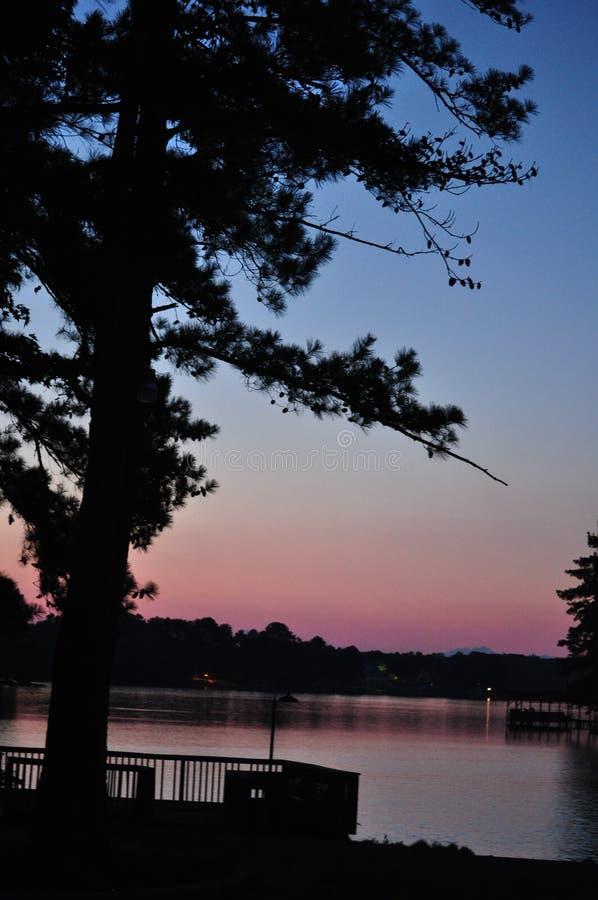 Lake Silhouette royalty free stock photo