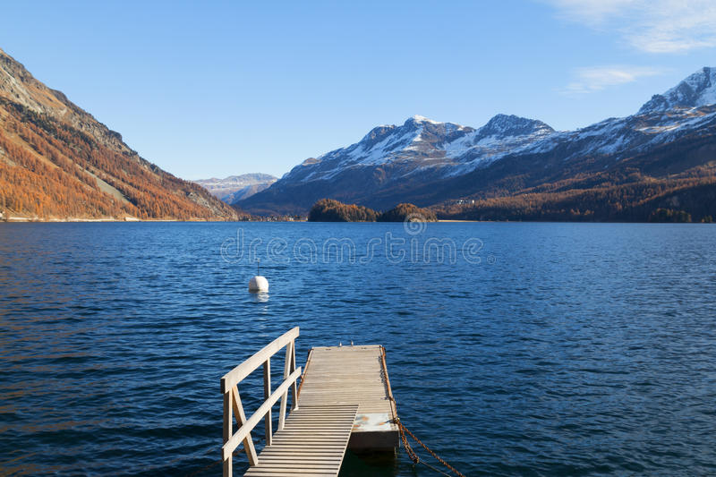 Lake of Sils royalty free stock images