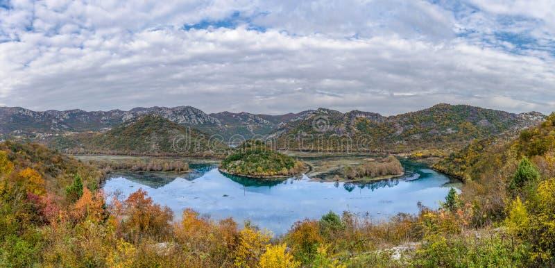 Lake Skadar Montenegro. Power of nature , montenegro river and lake skadar with bridge on Rijeka Crnojevica royalty free stock photography