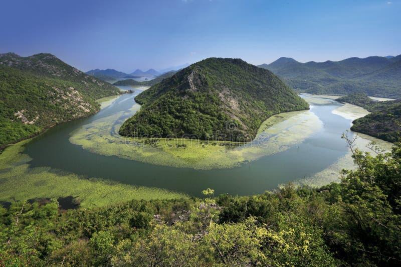 Lake Skadar. Pavlova strana, view of Lake Skadar, Montenegro stock photography