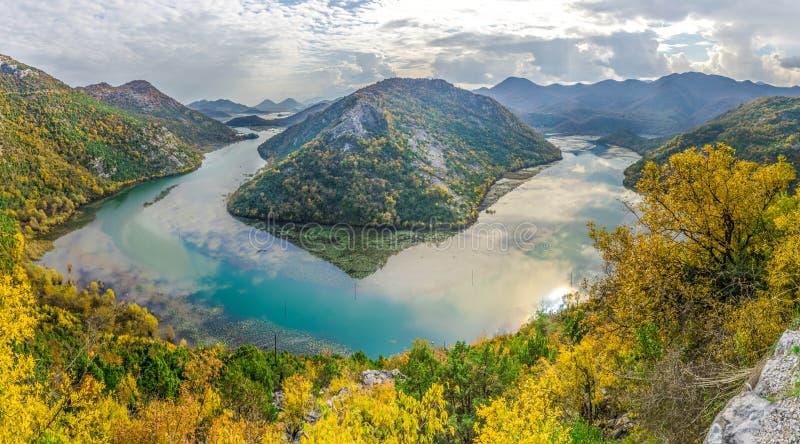 Lake Skadar Rijeka Crnojevica. Power of nature , montenegro river and lake skadar royalty free stock image