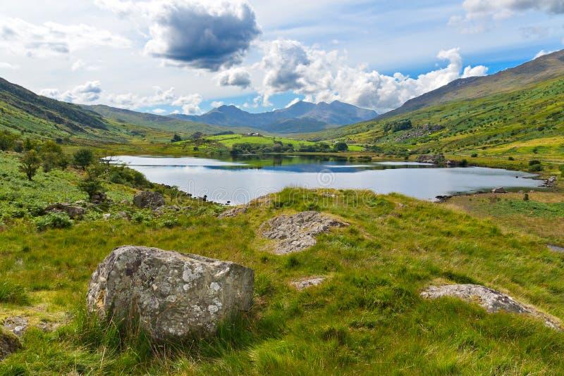 Lake in Snowdonia stock photos