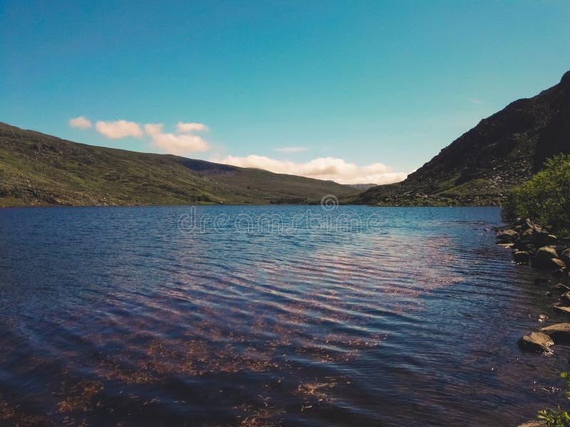 Lake in Snowdonia National Park stock image