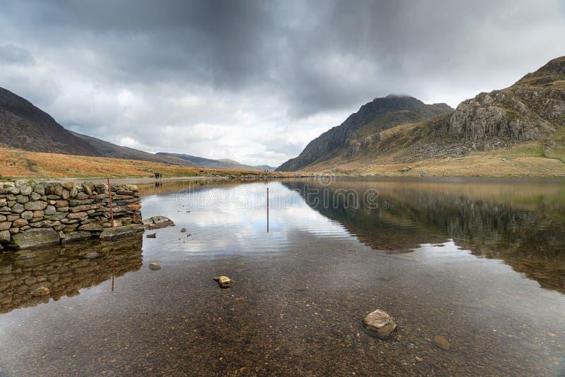 A Lake in Snowdonia stock photo
