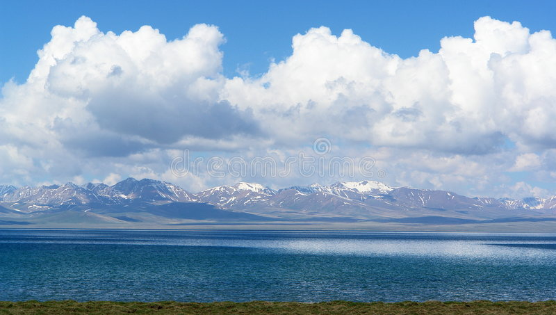 Lake Song-Kol Kyrgyzstan stock images