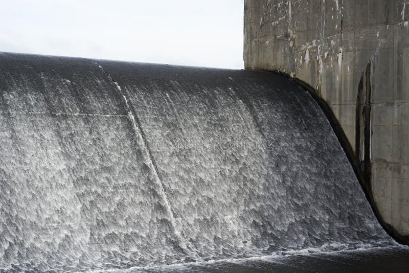Lake spillway in Ohio royalty free stock photo