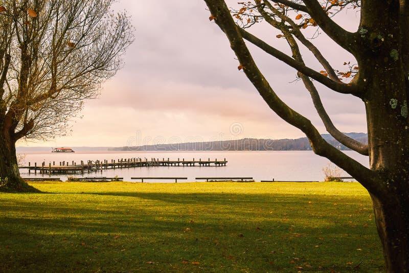 Lake Starnberg in Germany. Autumn season on Lake Starnberg in Bavaria, Germany royalty free stock photos
