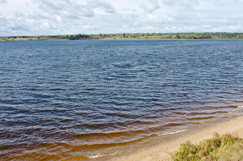 Lake Sterzh. Sterzh lake in Tver Region, Ostashkov district. About the source of the Volga stock images