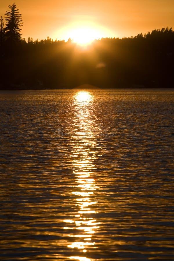 Free Lake Sunset 1 Royalty Free Stock Photos - 1585388