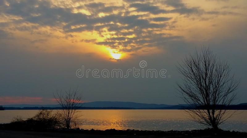 Lake Sunset stock image