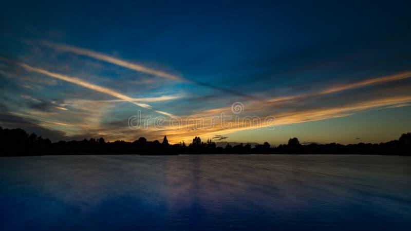 Lake Sunset. stock image