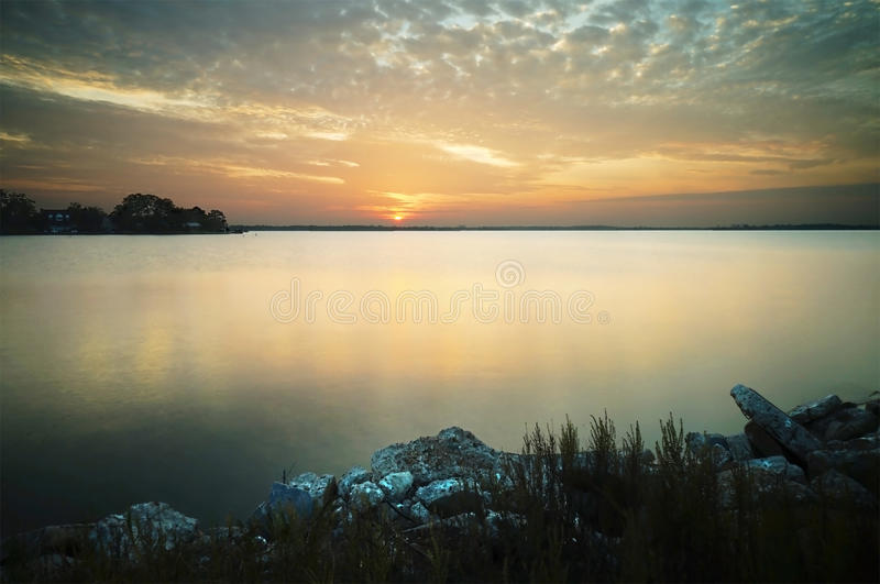 Download Lake Sunset stock image. Image of night, conroe, picture - 47876463