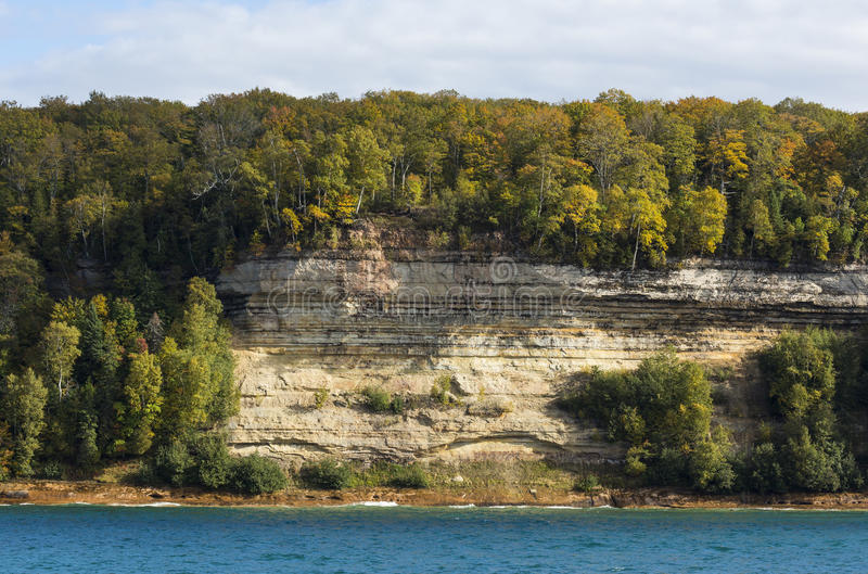 Lake Superior Cliff Scenic royalty free stock image