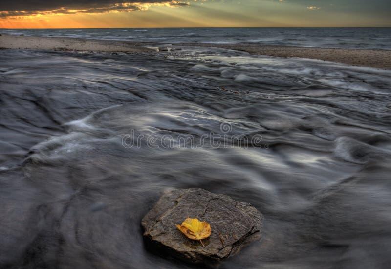 Lake Superior Northern Michigan. Fall autumn beautiful Hurricane River stock image