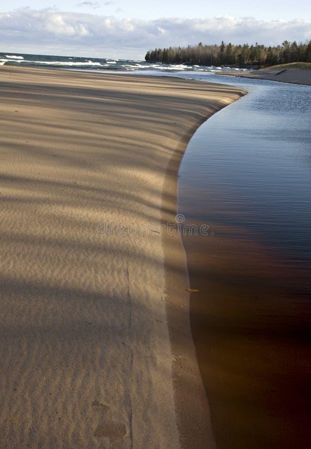Lake Superior Northern Michigan. Fall autumn beautiful royalty free stock image