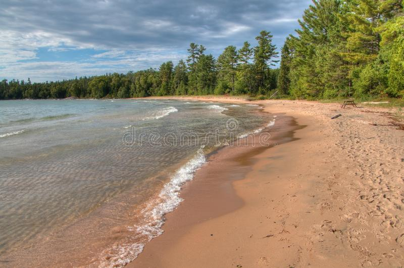 Lake Superior Provincial Park is on the Shore of the Lake in Northern Ontario, Canada stock image