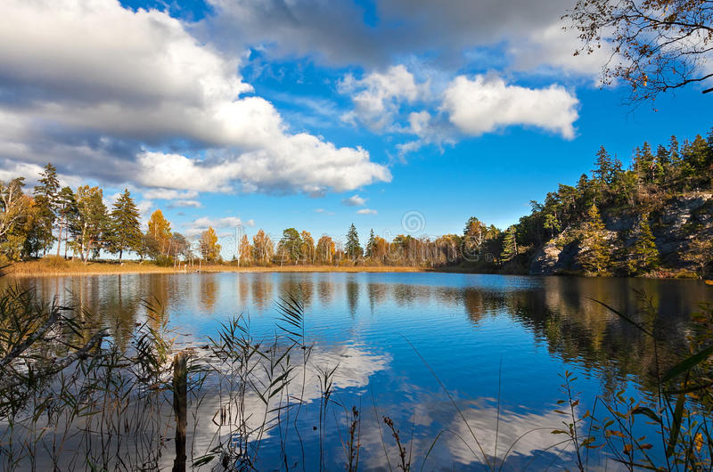 Download Lake In Sweden Reflecting The Late Summer Sky Stock Photos - Image: 33372183