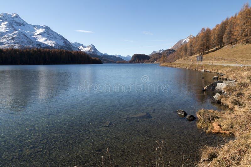 Lake in switzerland stock photo