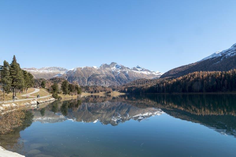 Lake in switzerland stock photos