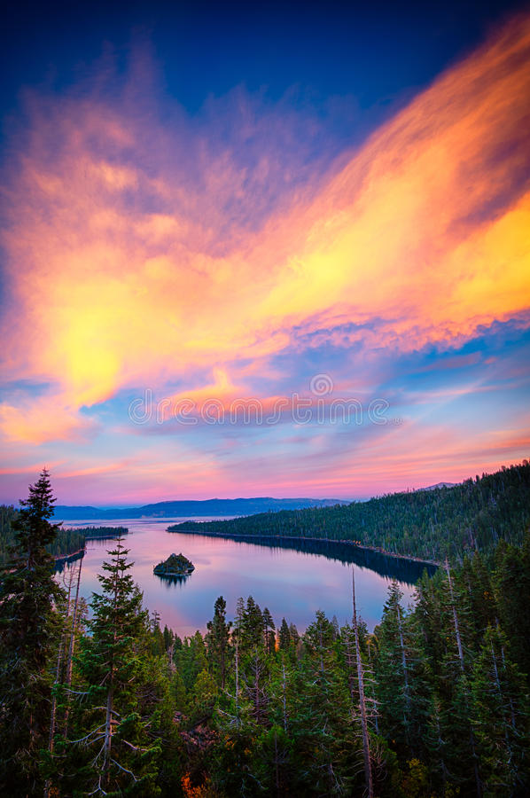 Lake Tahoe royaltyfria foton