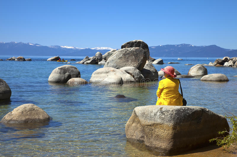 Download Lake Tahoe, California. stock image. Image of waves, california - 25339287