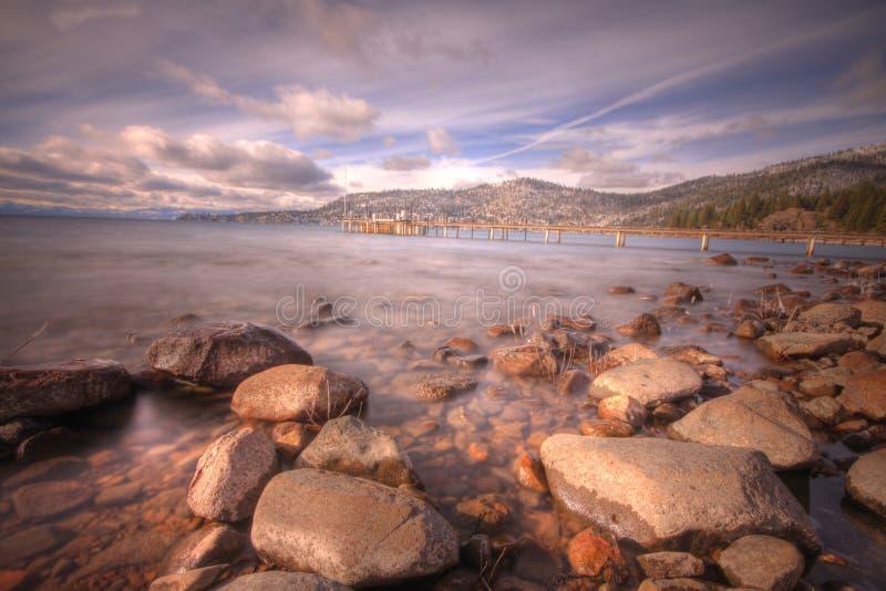 Lake Tahoe da vila do declive fotografia de stock royalty free
