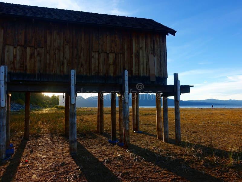 Lake Tahoe in drought royalty free stock image