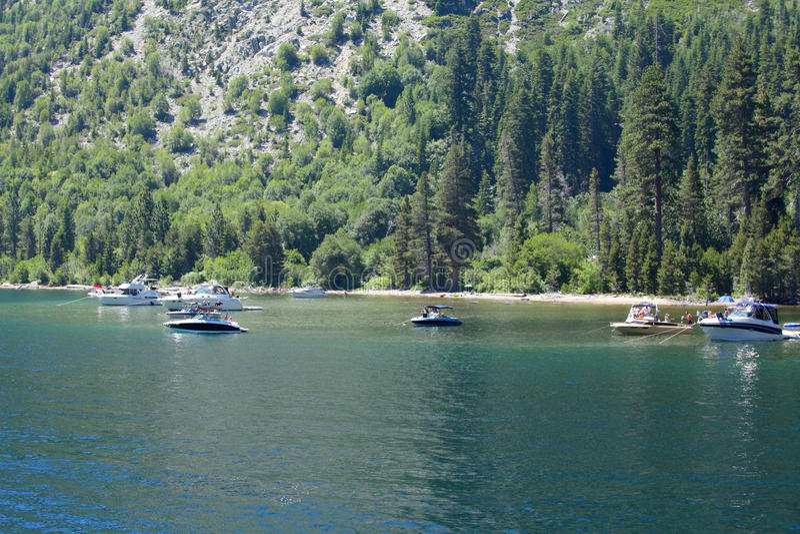 Lake Tahoe Emerald Bay royaltyfria bilder
