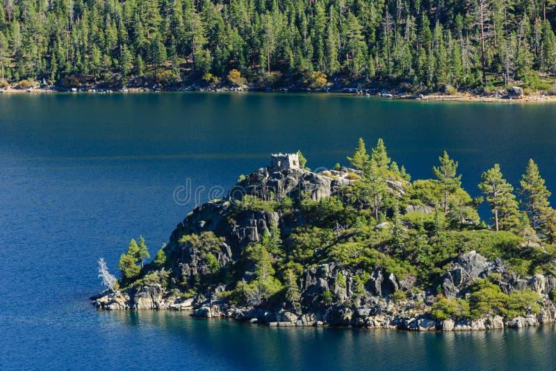 Lake Tahoe, Emerald Bay e Fannette Island imagens de stock royalty free