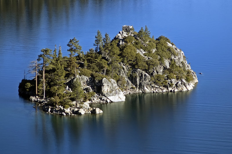 Lake Tahoe Emerald Bay Fannette Island royalty free stock photos