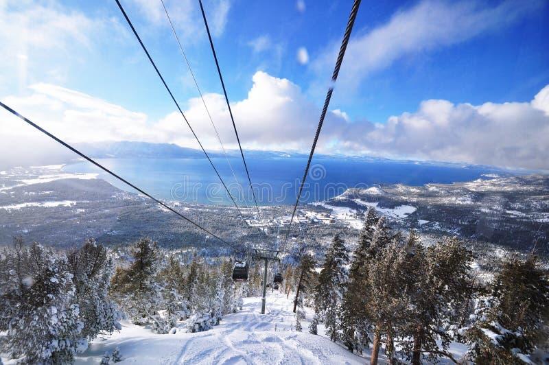 Lake Tahoe en hiver images libres de droits