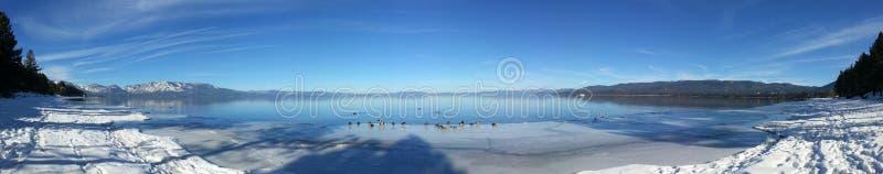 Lake Tahoe en invierno imagen de archivo