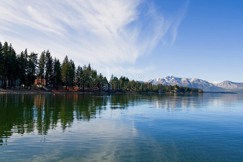 Lake Tahoe in inverno fotografie stock