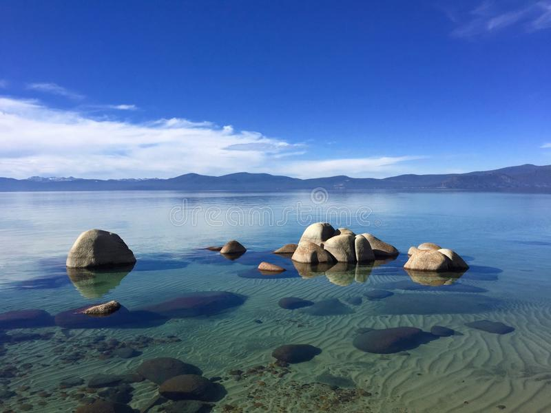 Lake Tahoe Kalifornien, USA arkivbild