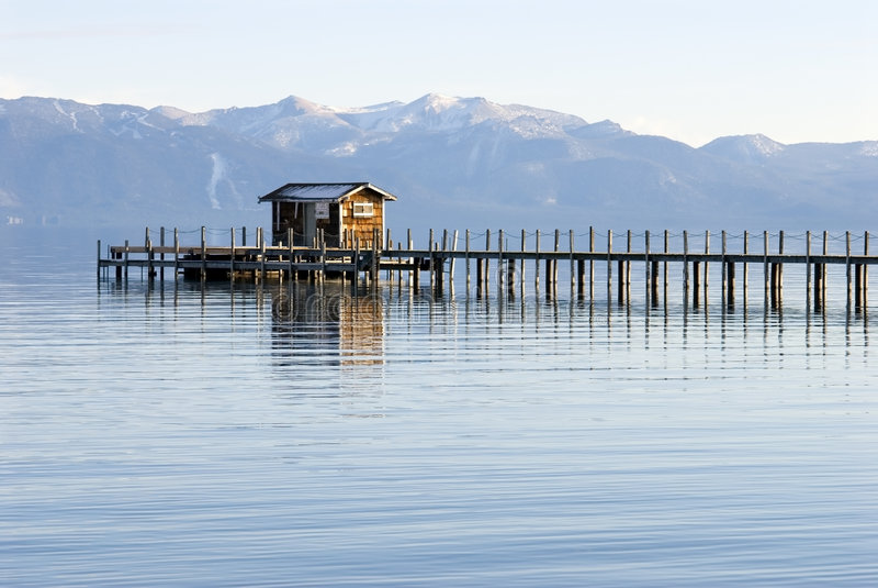 Lake tahoe landscape royalty free stock photo