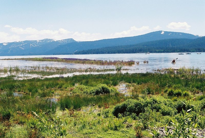 Download Lake Tahoe Nevada With Mountains In Background Stock Photography - Image: 201462