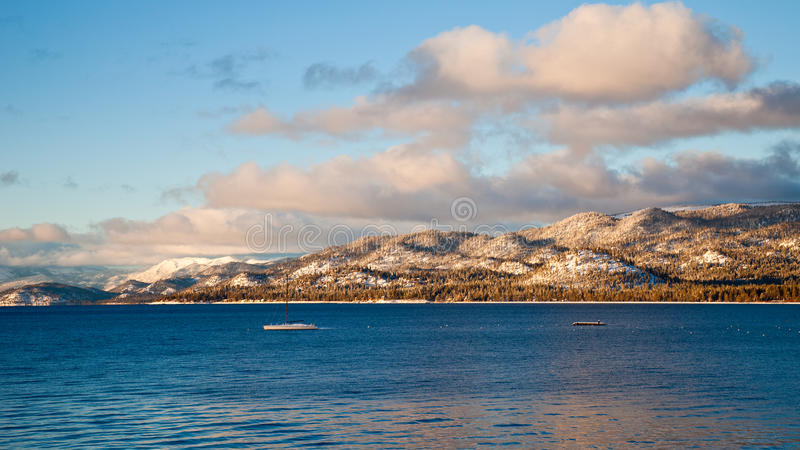 Download Lake Tahoe Panorama stock photo. Image of pine, nevada - 19843972