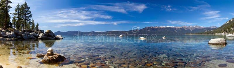 Lake Tahoe panorama- landskap royaltyfri foto