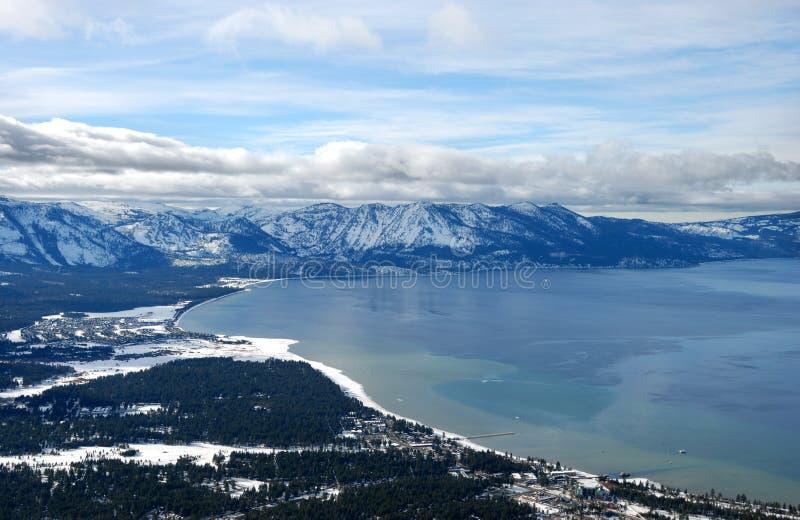 Lake Tahoe sul no inverno imagem de stock royalty free