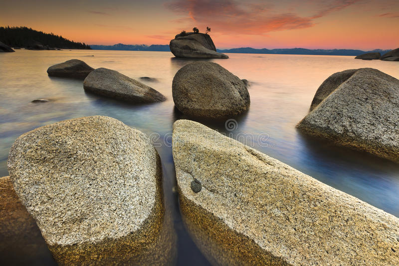 Lake Tahoe after sunrise royalty free stock photos