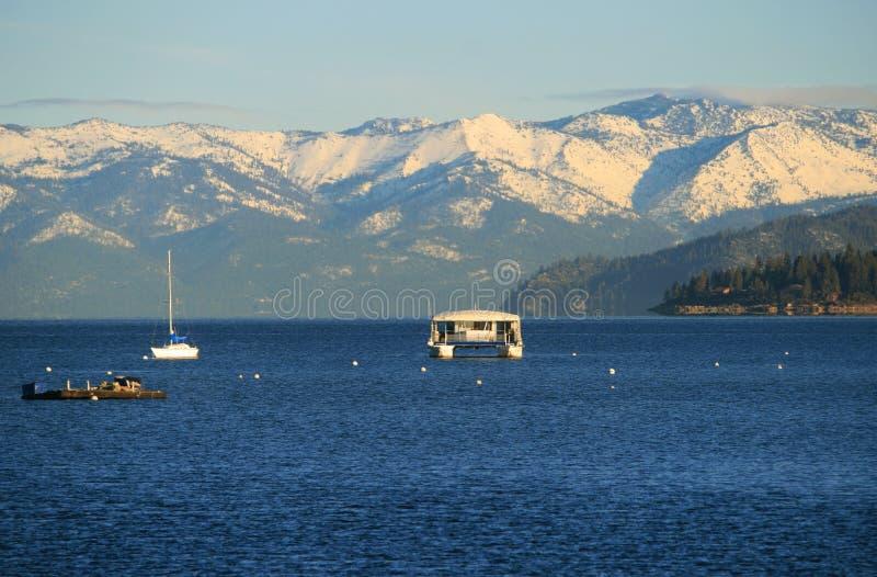 Download Lake Tahoe in winter stock image. Image of quiet, lake - 12996473