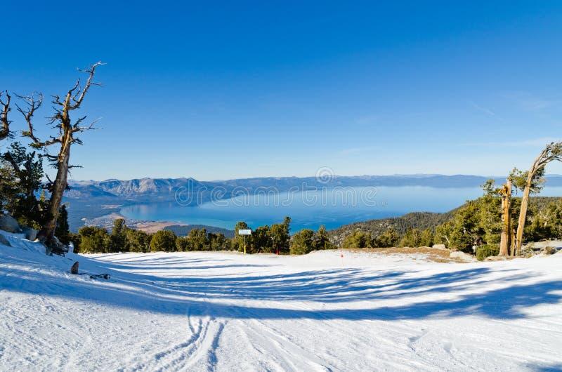 lake tahoe zimy zdjęcie royalty free