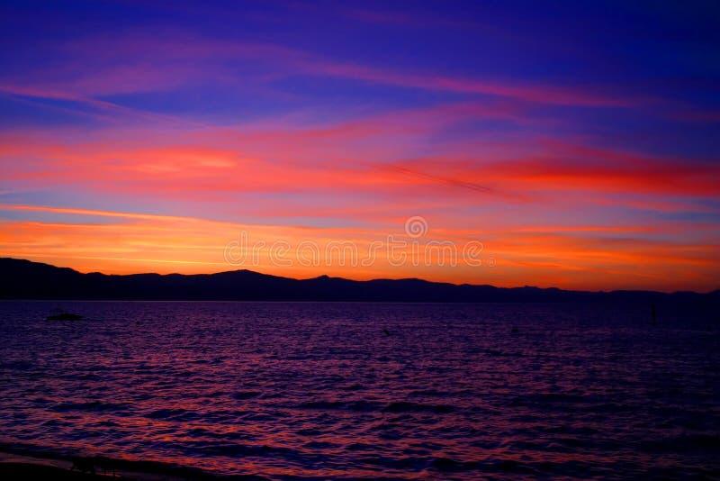 Lake- Tahoesonnenuntergang 1 lizenzfreies stockbild
