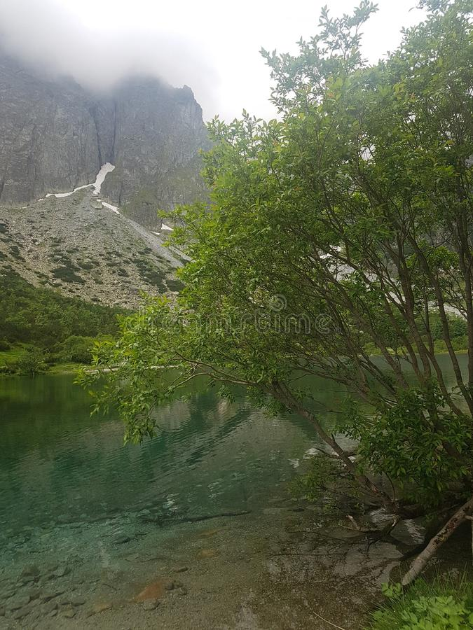 Lake of Tatry mauntains royalty free stock photography