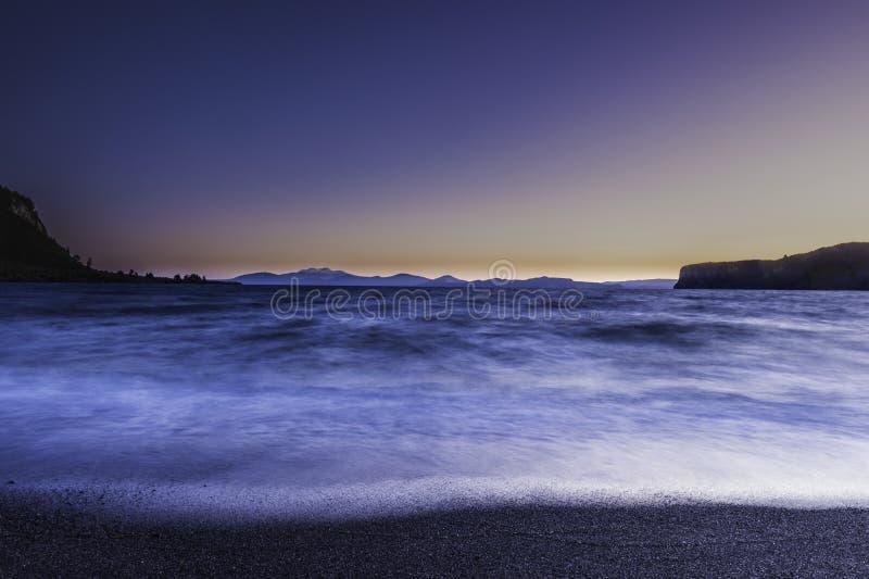 Lake Taupo Whakaipo Bay Abstract stock image
