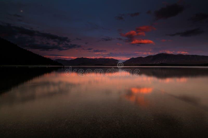 Lake Tekapo arkivbild