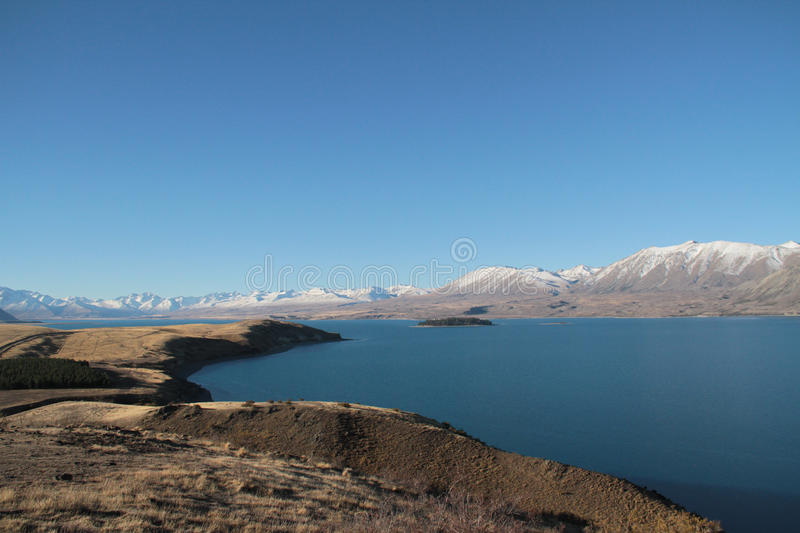 Lake Tekapo royaltyfria foton