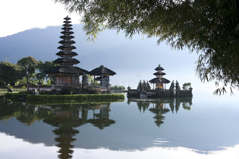 Lake bratan hindu water temple Pura Ulun Danu Bali Indonesia royalty free stock photography