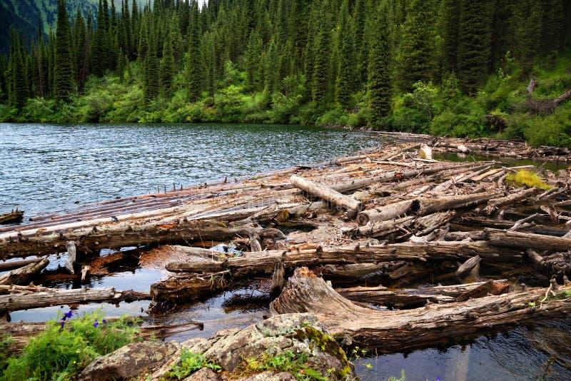 Lake in Tien-Shan mountains, Kazakhstan stock image