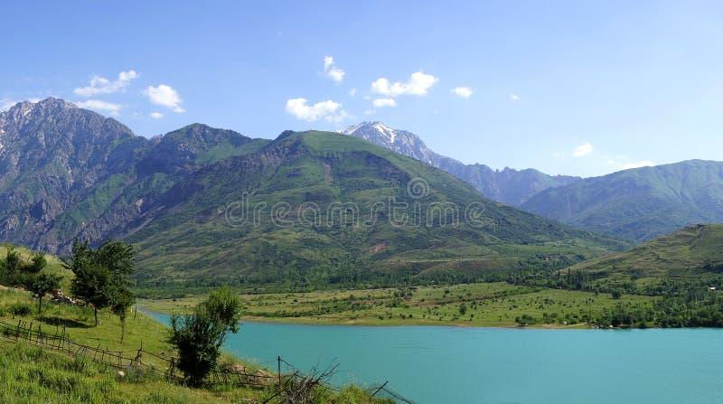 Lake in Tien-Shan mountains stock photos